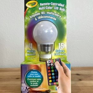 🍄2 for $15🍄 NEW Crayola Remote Control LED Bulb